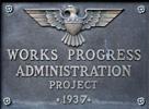 WPA plaque